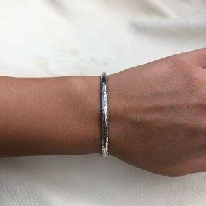 Pretty Sterling Silver Etched Bracelet